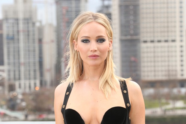 Actress Jennifer Lawrence poses for photographers at the photo call for the film 'Red Sparrow' in London, Tuesday, Feb. 20, 2018. (Photo by Joel C Ryan/Invision/AP)