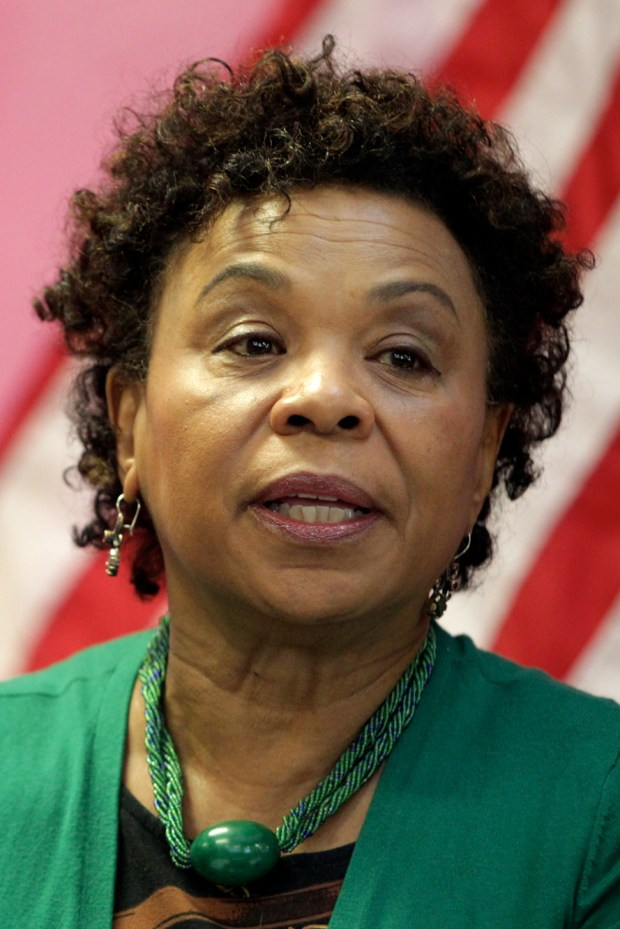 Congresswoman Barbara Lee speaks at a panel discussion on the House Democrats' economic agenda for women and families: When Women Succeed, America Succeeds at the African American Arts & Cultural Complex in San Francisco, Calif., Tuesday, Jan. 21, 2014. (Anda Chu/Bay Area News Group Archives)
