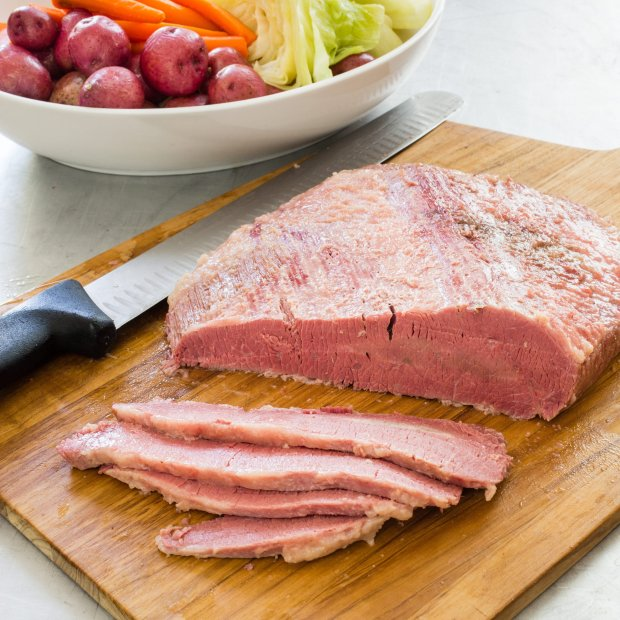 Sure, you could buy a strangely pink corned beef at the supermarket for St.Patrick's Day -- or for everyday sandwich-making. Or you could make your own, using tips from America's Test Kitchen. (Photo courtesy of America's Test Kitchen)