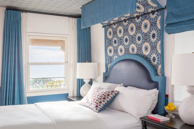 Bedrooms at Casa Laguna offer ocean views and fresh, modern decor.(Courtesy Jamie Kowal)