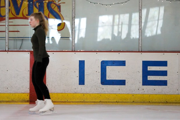 Kate O'Neal skates aroudn the rink at Dublin Iceland on Thursday, Feb. 15, 2018. (Randy Vazquez/ Bay Area News Group)
