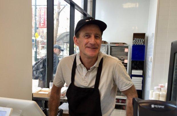 Founder Nathan Pendleton behind the counter at Nox Cookie Bar indowntown San Jose. (Sal Pizarro/Bay Area News Group)