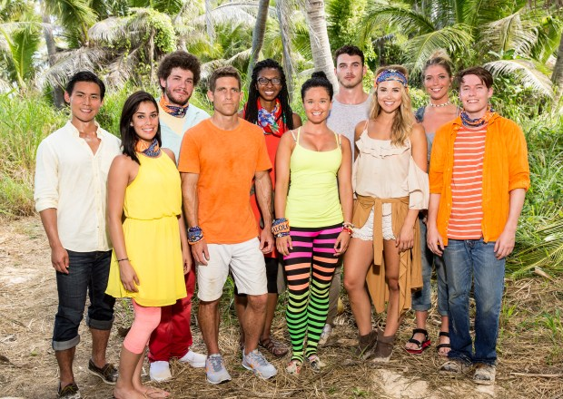 'Survivor: Ghost Island' Malolo Tribe members: (Back Row L-R) James Lim, Jacob Derwin, Laurel Johnson, Michael Yerger and Janna Bowman. (Front Row L-R) Stephanie Gonzalez, Brendan Shapiro, Stephanie Johnson, Libby Vincek and Donathan Hurley. (Robert Voets/CBS)