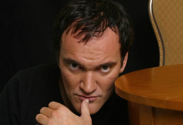 "Writer/director/actor Quentin Tarantino shown Friday, Sept. 26, 2003, in Beverly Hills, Calif., returns to the big screen after a six-year absence with his two-part action saga, ""Kill Bill."" (AP Photo/Stefano Paltera)"