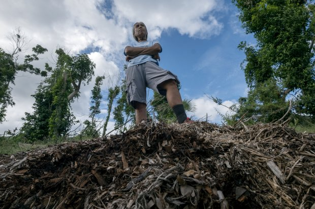 Josephine Roller, 60, is shown in St. John, U.S. Virgin Islands on January24, 2018. Roller operates Josephines Greens, a farm that provides produce to local stores and restaurants. Roller is frustrated about the way storm debris is being handled and wants to have it delivered to her property for mulch. MUST CREDIT: Washington Post photo by Bonnie Jo Mount