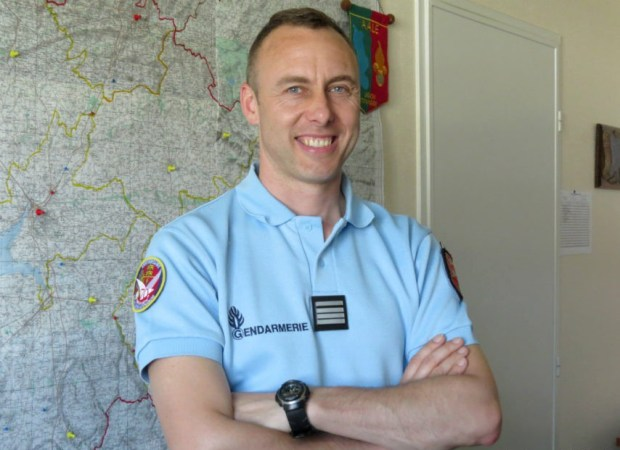 2013 photo of French police Lt. Col. Arnaud Beltrame / AFP PHOTO / LA GAZETTE DE LA MANCHE