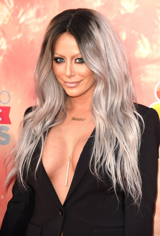 Singer Aubrey O'Day of Dumb Blonde attends the 2015 iHeartRadio Music Awards which broadcasted live on NBC from The Shrine Auditorium on March 29, 2015 in Los Angeles, California. (Photo by Jason Merritt/Getty Images for iHeartMedia)