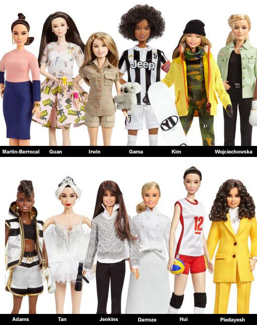 Barbie celebrates global role models for International Women's Day