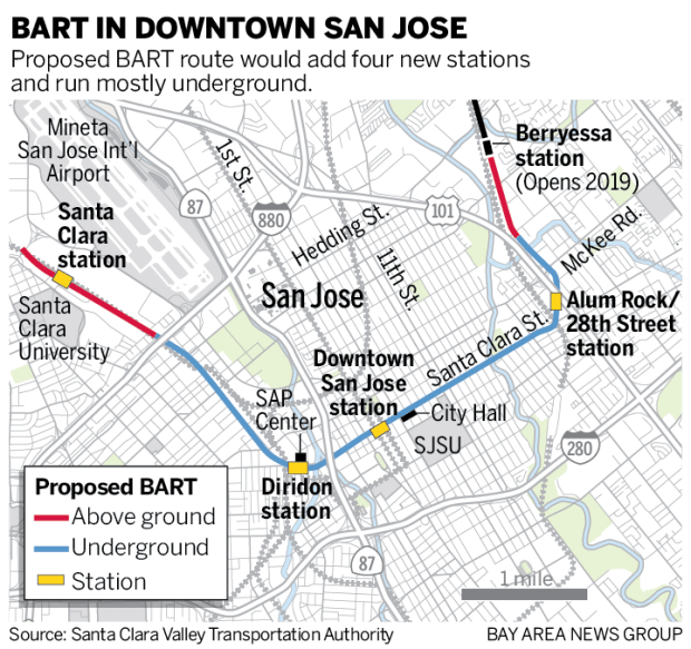 San Jose: How BART\'s extension will transform the South Bay