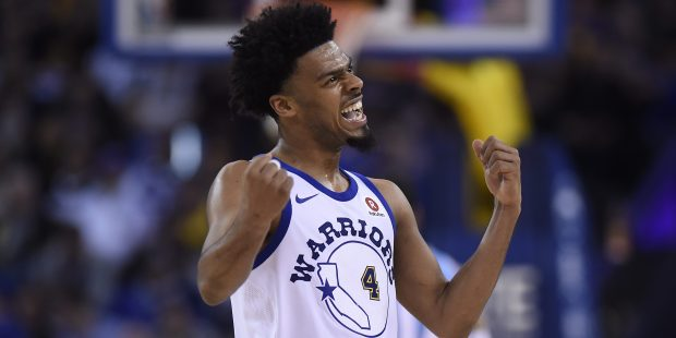 Golden State Warriors' Quinn Cook (4) reacts after a failed basket while playing against the Sacramento Kings during the fourth quarter of their NBA game at the Oracle Arena in Oakland, Calif., on Friday, March 16, 2018. The Sacramento Kings defeat the Golden State Warriors 98-93. (Jose Carlos Fajardo/Bay Area News Group)