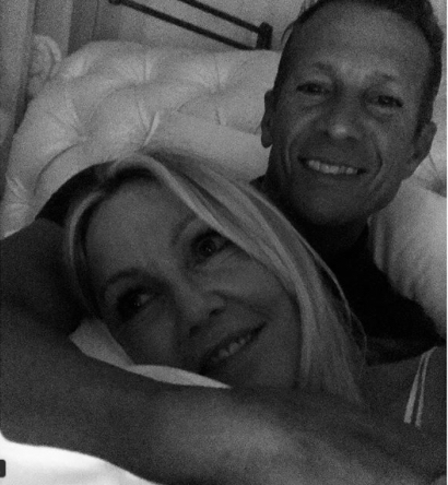 """Heather Locklear with Chris Heisser, her """"favorite person on earth."""" (Instagram/Heather Locklear)"""