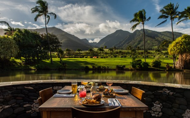 The Mill House specializes in refined Hawaiian cuisine coupled withspectacular views of the West Maui Mountains in Waikapu. (Photo: Maui Tropical Plantation)