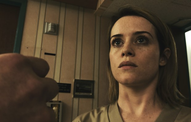 "This image released by Bleecker Street shows Claire Foy in a scene from ""Unsane."" (Bleecker Street via AP)"