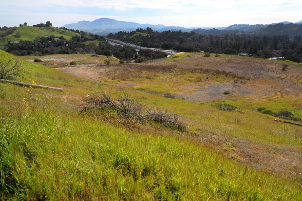 A proposed housing development site along Deer Hill Road is photographed on Wednesday, March 7, 2018 in Lafayette, Calif. (Aric Crabb/Bay Area News Group)