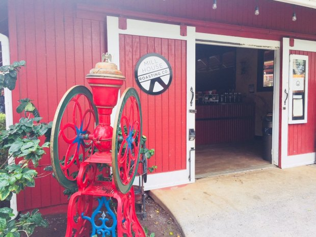 Mill House Roasting Co is located inside a converted red barn at the MauiTropical Plantation in Waikapu. (Photo: Jessica Yadegaran/Bay Area News Group)