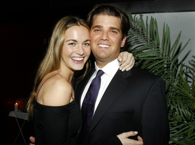 NEW YORK - FEBRUARY 11: (U.S. TABS OUT) Donald Trump Jr. and his girlfriend Vanessa Haydon attend The Daily Party at The Social Club In New York February 11, 2004. (Photo by Carlo Allegri/Getty Images)