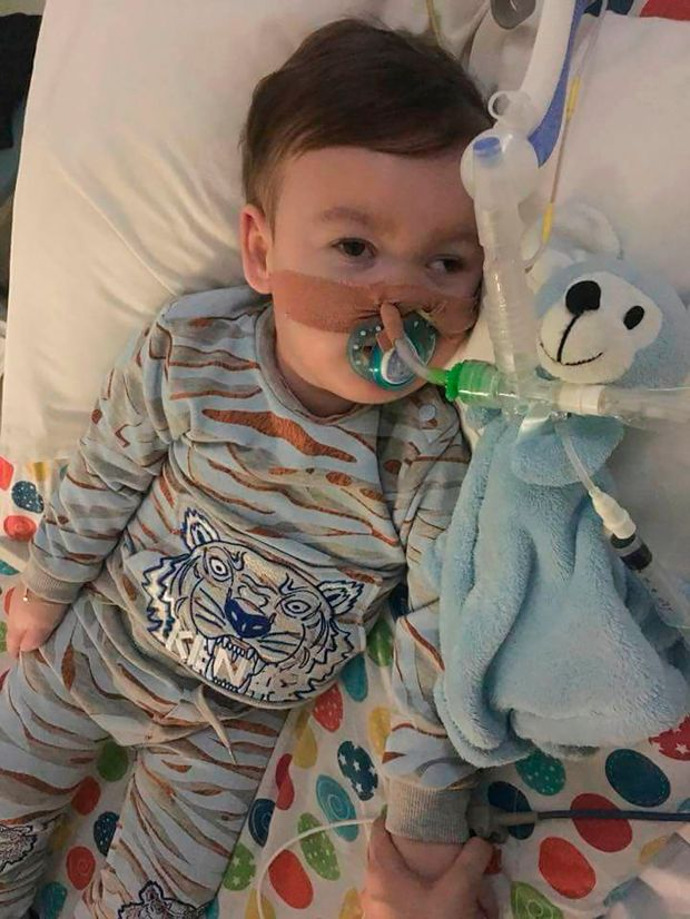 Alfie Evans, April 5, 2018 (Action4Alfie via AFP)
