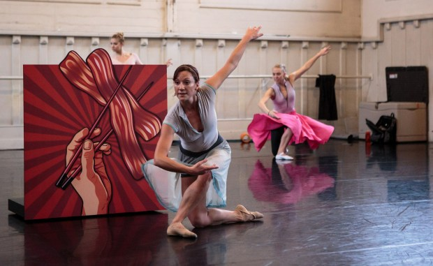 """SMUIN CONTEMPORARY AMERICAN BALLETMembers of Smuin Contemporary American Ballet rehearse """"If I Were a Roll of Sushi."""""""