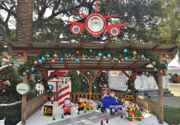 """North Pole Landing Field"" was one of the displays that made its debut in2017 at Christmas in the Park. (Sal Pizarro/Bay Area News Group)"