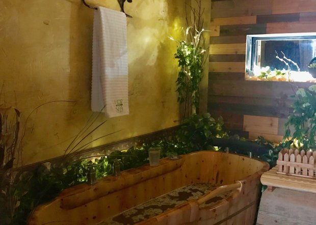 The Hop in the Spa in Sisters, Oregon, offers hops-inspired spa treatments,including soaking tubs filled with essential oils and hop-infused water. (Jackie Burrell/Bay Area News Group)