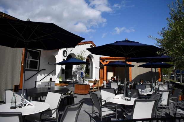 Clouds float on by at the Salt Craft restaurant in Pleasanton, Calif., on Thursday, April 12, 2018. Chef-owner Matt Greco, former executive chef of Wente Winery restaurant, is embarking on his first solo venture. (Jose Carlos Fajardo/Bay Area News Group)