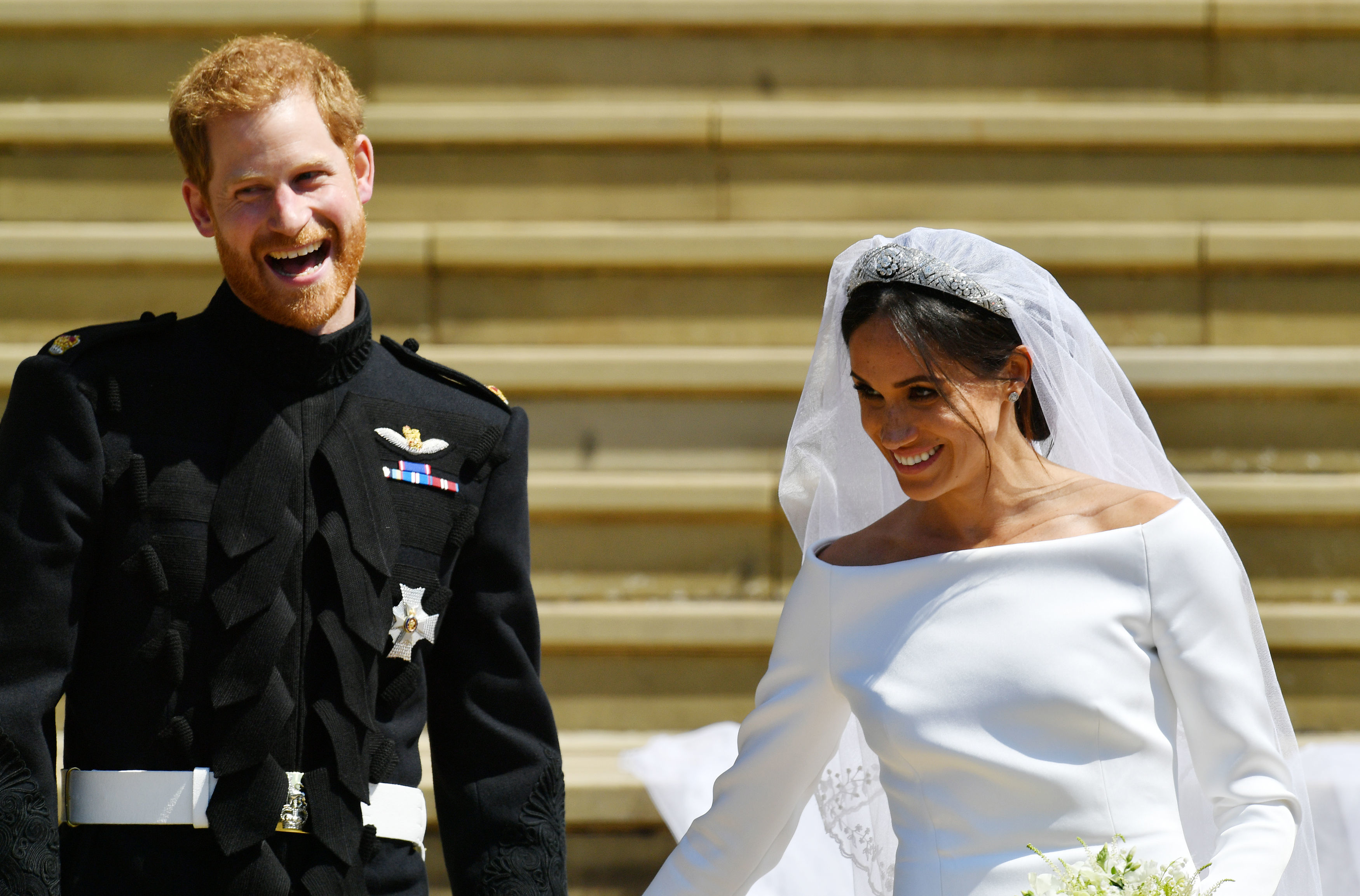 Meghan Markle makes Ascot debut with Prince Harry on wedding anniversary