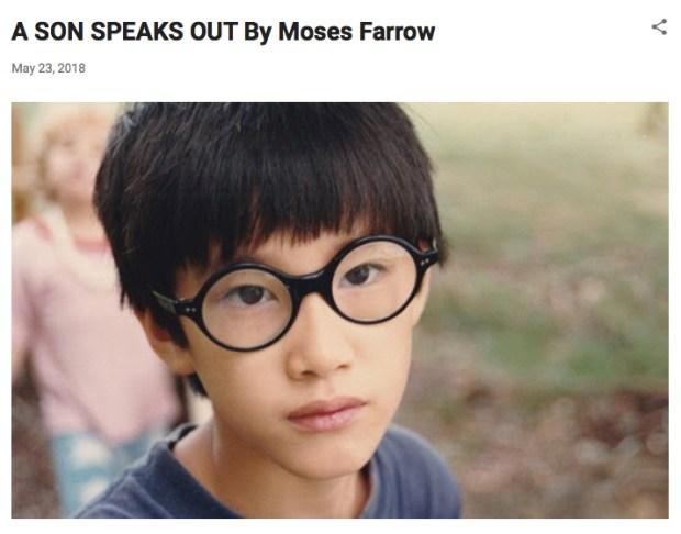 Moses Farrow (Screen shot of Moses Farrow blog)