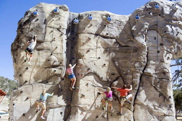 The Granite Peak Climbing Wall at Heavenly Ski Resort's Epic Discoveryoffers 15 routes to the summit of the 25-foot-tall monolith. (Heavenly Ski Resort)
