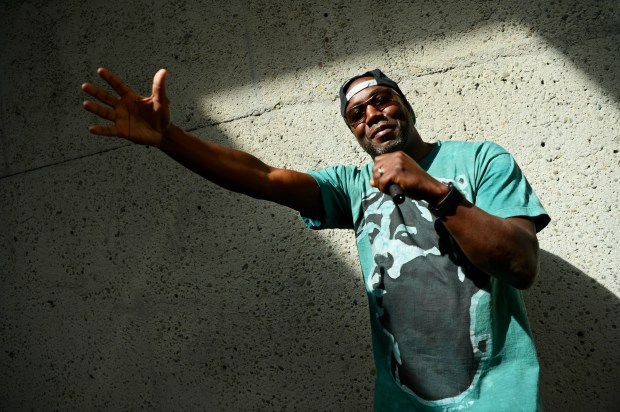 Musician Jahi, of Oakland, also known as Torman Jahi, is photographed at the Oakland Museum of California in Oakland, Calif., on Friday, May 4, 2018. (Jose Carlos Fajardo/Bay Area News Group)