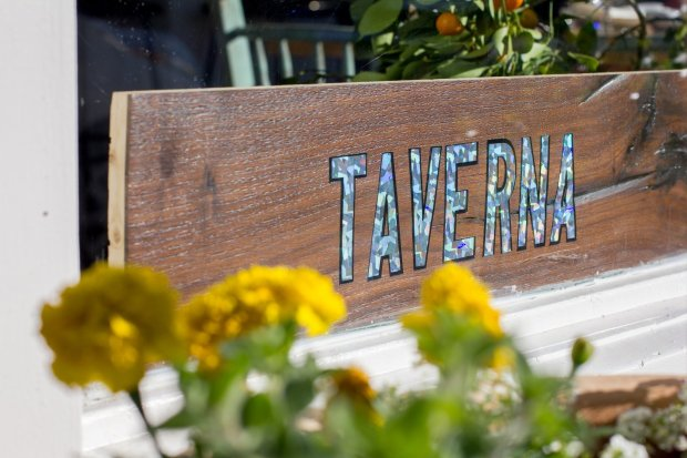 Taverna's modern Greek seasonal food is served in a sunny setting in PaloAlto. (Photo: Isabel Baer)