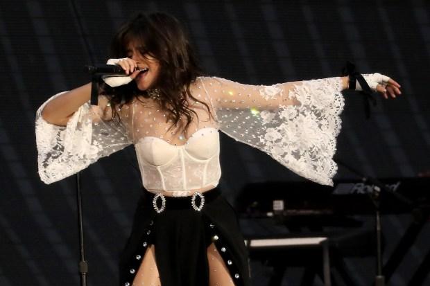 Camila Cabello performs during the 2018 Taylor Swift Reputation Stadium Tour stop at Levi's Stadium in Santa Clara, Calif., on Friday, May 11, 2018. (Anda Chu/Bay Area News Group)