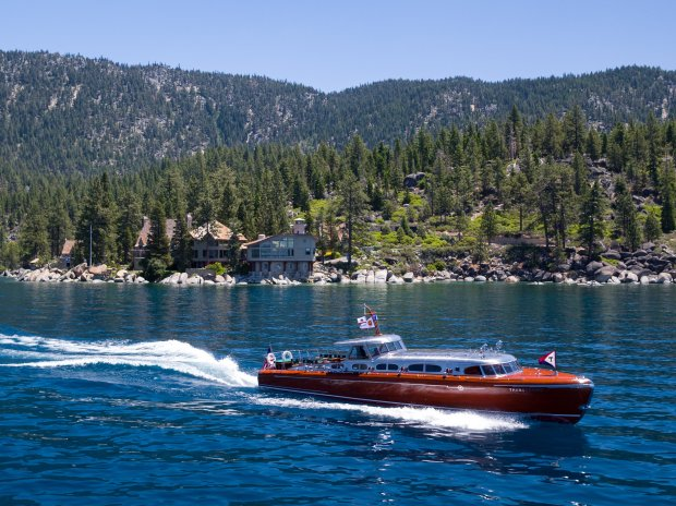 The Thunderbird yacht is 77 year old wooden speedboat housed at theThunderbird Lodge in Lake Tahoe. (Photo: North Lake Tahoe)