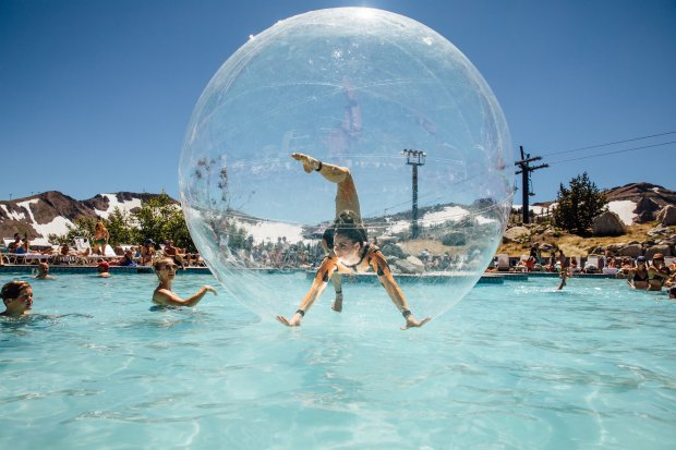 Grab your yoga mat for tahoe 39 s wanderlust - High camp swimming pool squaw valley ...