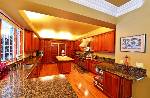 The kitchen is large and well-appointed with plenty of room for multiple cooks.