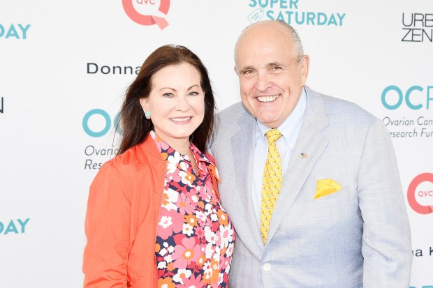 WATERMILL, NY - JULY 29: Judith Giuliani and Rudy Giuliani attend OCRFA's 20th Annual Super Saturday to Benefit Ovarian Cancer on July 29, 2017 in Watermill, New York. (Photo by Mike Pont/Getty Images for OCRFA)