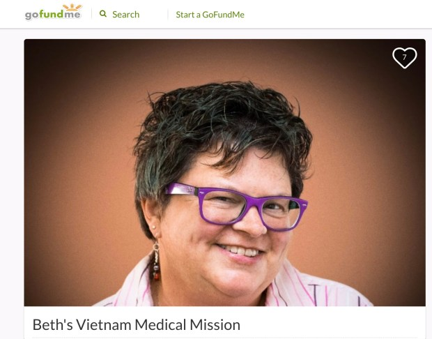 Dr. Beth Keegstra as she appears in a GoFundMe profile seeking funding for a medical mission to Vietnam. Keegstra is being investigated by El Camino Hospital Los Gatos after an incident between her and a patient in the emergency room. The incident, captured on cell phone video by the patient's father, appears to show Keegstra mocking the patient and expressing doubt about his medical complaint. (Courtesy LinkedIn)
