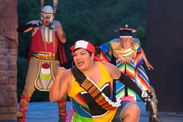 "The cast of ""Quixote Nuevo"" at Cal Shakes (Cal Shakes)"