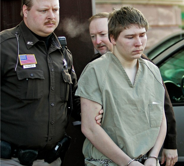 March 3, 2006: Brendan Dassey is escorted out of a  courtroom in Manitowoc, Wis. ( AP Photo/Morry Gash, File)