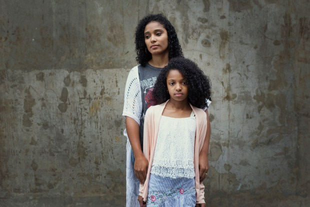 Aparecida Jesus and her daughter, Ana Luiza, in downtown São Paulo. MUST CREDIT: photo for The Washington Post by Petala Lopes.