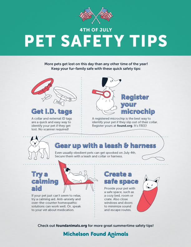 Simple pet safety tips. (Courtesy of Michelson Found Animals Foundation )