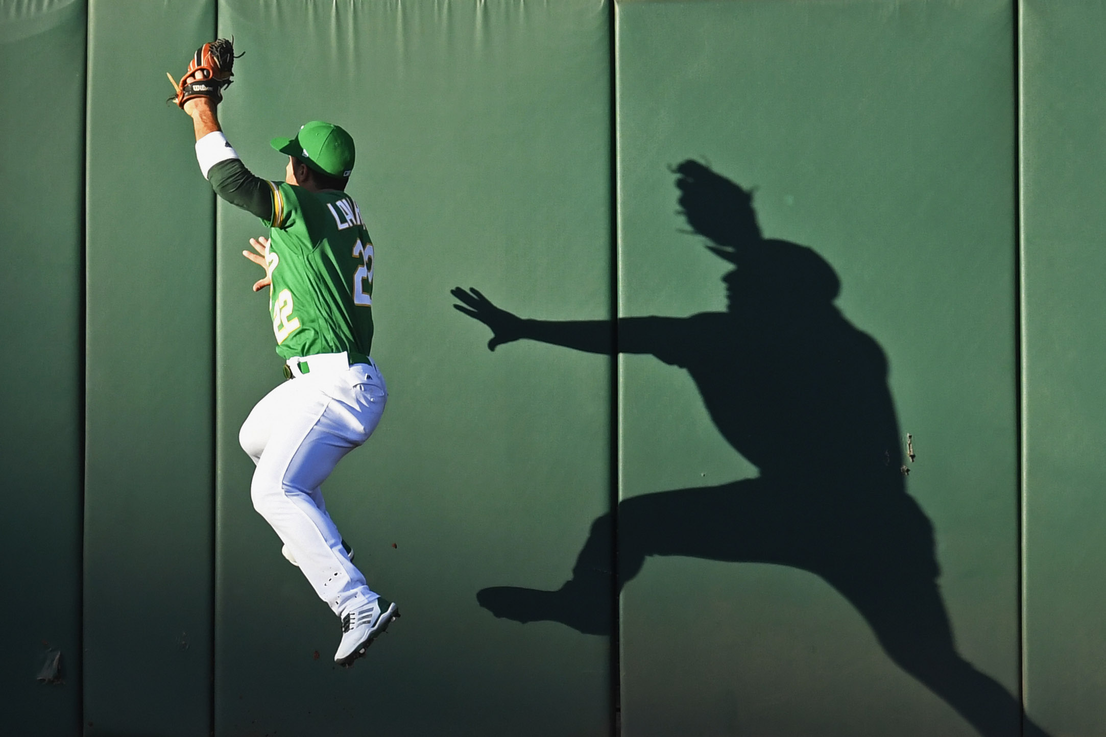 A s Ramon Laureano makes insane throw in game vs Angels Oakland Athletics  Ramon Laureano  22  reaches to catch a fly ball hit by  Detroit Tigers  Nicholas Castellanos  9  in the first inning of their MLB  game at