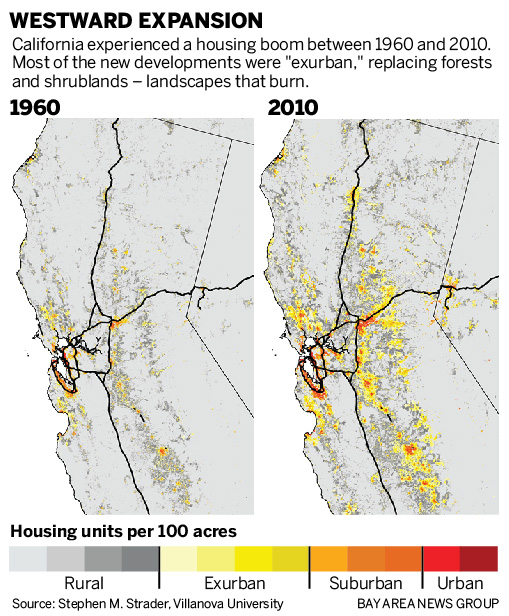 California wildfires: Development on city fringes boosts risk