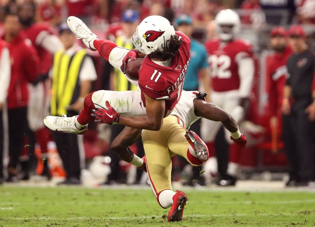 Wide receiver Larry Fitzgerald #11 of ...