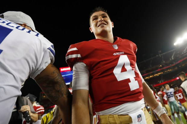 buy popular a3d28 0429d 49ers Nick Mullens finds virtual-reality tool 'interesting'
