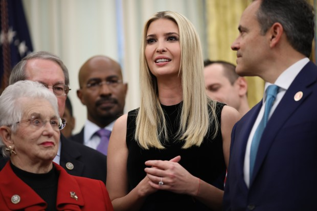 98cd9f6ab6e Ivanka Trump delivers remarks during the signing ceremony for the First  Step Act and the Juvenile Justice Reform Act in the Oval Office of the  White House ...