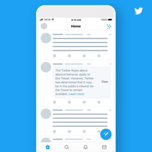 Twitter将特朗普的推文贴上标签,其他领导者则违反其规则