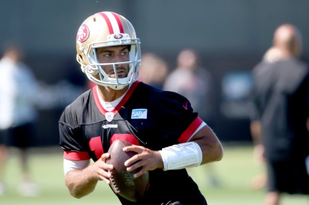 49ers training camp: Pads come on, Jimmy Garoppolo to benefit?