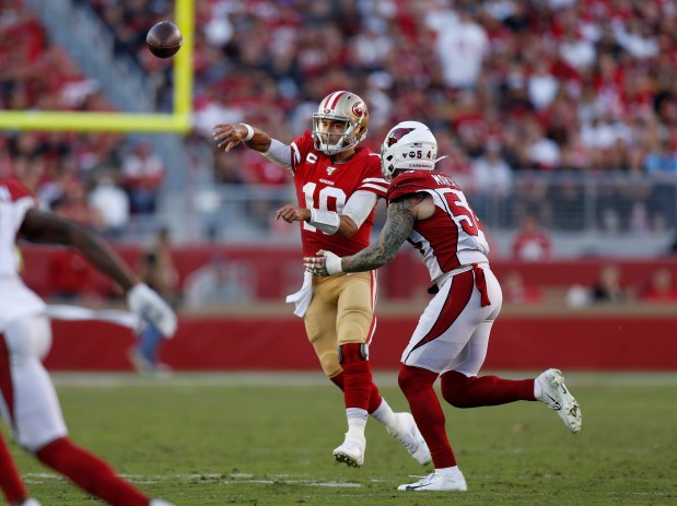 Wednesday at 49ers HQ: Garoppolo on INTs; latest on Kittle, injuries
