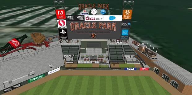 Center field bullpens rendering at Oracle Park