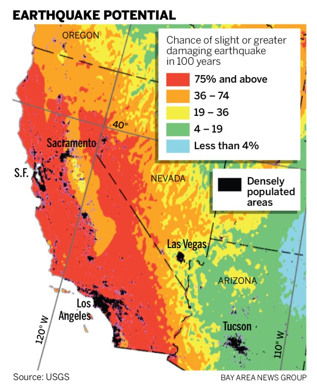 New Earthquake Hazard Map Shows Higher Risk In Some Bay Area Cities If your group would like to reconsider adding your zoom link and password to the bay area saa website, you have the opportunity to do so. earthquake hazard map shows higher risk